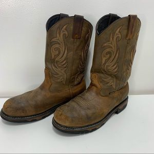 Laredo Leather work Boots pull on
